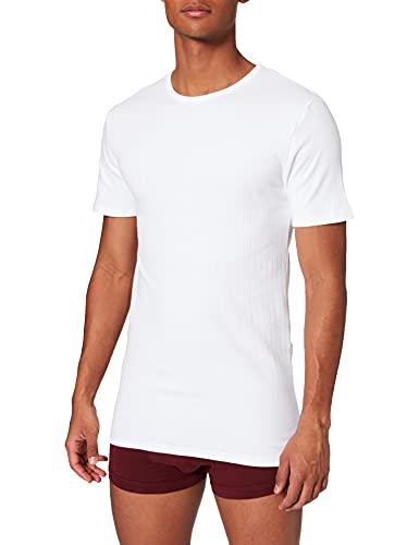 ABANDERADO - Camiseta Térmica De Manga Corta Y Cuello Redondo para hombre, color blanco, talla 52/L
