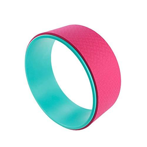 ヨガホイール、背中の痛みのためのホイール、ストレッチのための完璧なアクセサリー、バックベンドの改善、12.6 * 5.12インチ,ピンク