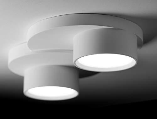 Plafoniera due luci design moderna gesso bianca pitturabile gx53 led per interni plafone alta qualità