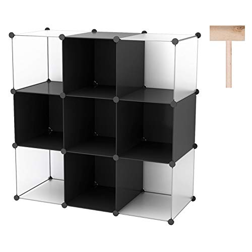 C&AHOME Cube Storage Organizer, 16-Cube Shelves Units, Closet Cabinet, DIY Plastic Modular Book Shelf, Ideal for Bedroom, Living Room, Office, 48.4
