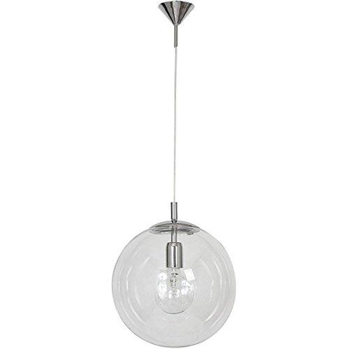 Homemania HOMAX_4131 Pendelleuchte Pearl Chrom Metall Glas 30 x 30 x 90 cm