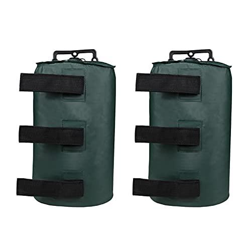 Matedepreso Canopy - Bolsas de peso para agua, tela Oxford 500D, para tienda de campaña, tienda de campaña, toldo de playa, cenadores (verde, tamaño: 2 unidades)