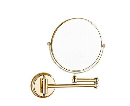 Étagères murales Salle de bains 304 miroir de salle de bains en acier inoxydable s'allume en forme de loupe miroir de salle de bains miroir télescopique double face miroir de beauté rabattable châssis