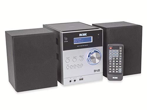 ROXX Stereoanlage mit CD, DAB+ Radio, Bluetooth, AUX In, USB MC401 Silver/Black