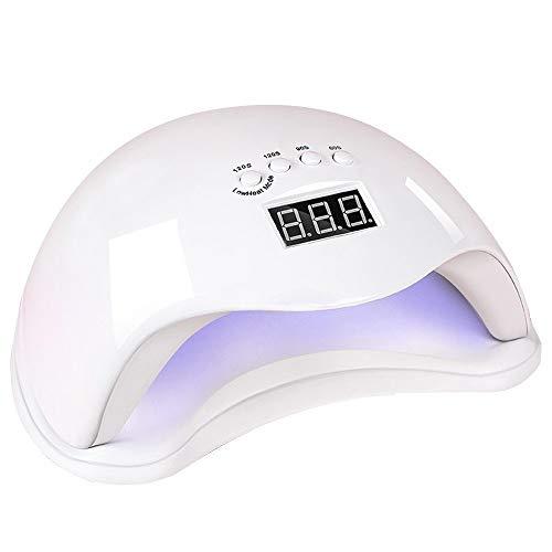 Bdb USB Nail Polish Séchoirs Durcissement Vernis À Ongles Sèche-UV LED Nail Lampe Smart Sensor Ongles Outils Professionnels avec Écran LCD Cadeau (Couleur : White-II)