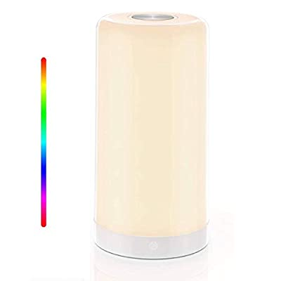 Amazon - 50% Off on Table Lamp, with RGB Color Mode, Touch-Sensitive Dimmable Warm