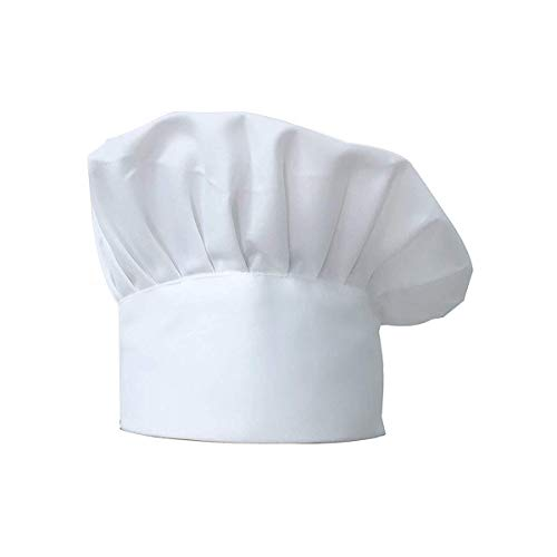 Sombrero de chef, blanco ajustable elástico de cocina tocado utilizado para la cocina