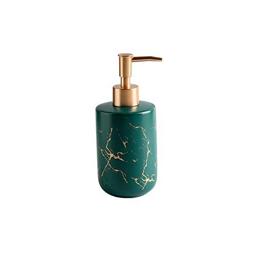 zunruishop Bomba electrica Dispensador de jabón de cerámica de mármol de Oro Dispensador de jabón Dispensador de jabón Gel de Gel Champú Botella de Agua Soporte de Suelo telescópico (Color : B)