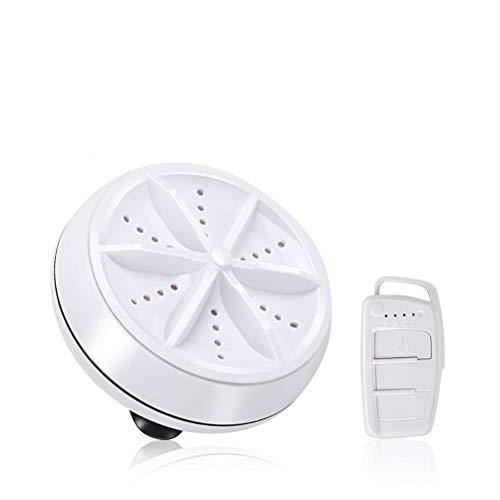 Delaspe Mini Lavatrice Portatile, asciugatrice ad ultrasuoni con Rotazione Turbo ad ultrasuoni, Adatta per elettrodomestici e Attrezzature per Il Lavaggio di Viaggio