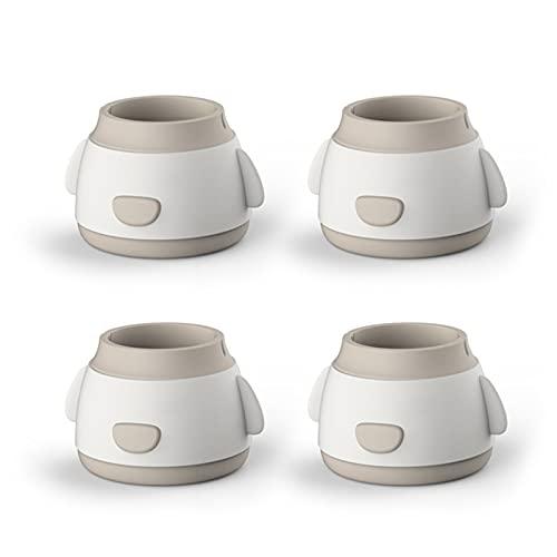 Qagazine Fundas para patas de muebles, protectores de patas de silla, funda de protección de muebles, antideslizante, antiruido, protege los pies de los muebles de suelo, para sillas de mesa, sofá