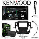 Kenwood DDX395 6.2' DVD Receiver, iDatalink Maestro KIT-FOC1 Dash kit for 2012-2018 Ford Focus, ADS-MRR Interface Module and BAA22 Antenna Adapter and a SOTS Lanyard