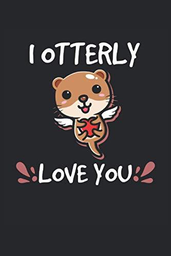 Cuaderno a cuadros I Otterly Love You Sea Otter Animal Lovers: Cuaderno a cuadros para amigos de las nutrias, amantes de las nutrias marinas y amantes de los animales.