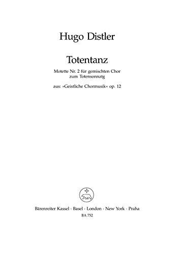 Totentanz Nr. 2 -Motette Nr. 2 zum Totensonntag- (aus <i>Geistliche Chormusik</i> op. 12 (1934-1941))