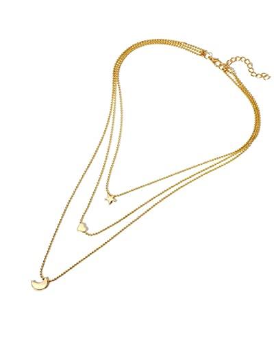 Conjunto de collar con cadena múltiple unida