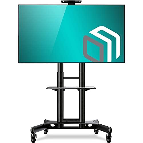 """ONKRON TV Ständer Standfuss 40\""""-70\"""" Zoll für die meisten TVs VESA 100x100-600x400 mm höhenverstellbar rollbar TS1551 Schwarz"""