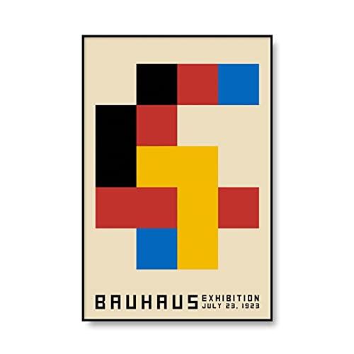 Bauhaus Ausstellung 1923 carteles de exposición e impresiones cuadros de arte de pared, pinturas de lienzo sin marco para decoración del hogar A6 40x60cm