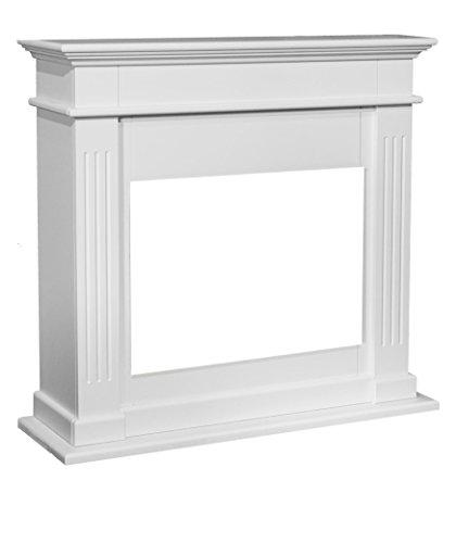 Chimenea falsa en color crema blanco 844rubyfires Elda Optiflame de madera DM lacado para insertos de chimenea Rubyfires Flandria, Lucius o Riano