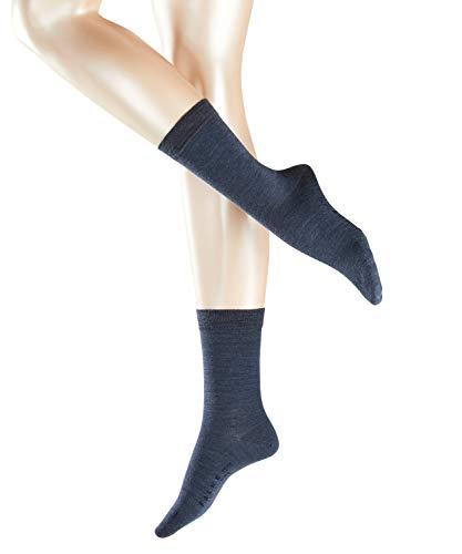 Falke Damen Socken Softmerino W SO-47488, Blau (Dark Blue Melange 6688), 37-38
