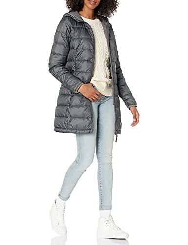 Amazon Essentials - Abrigo acolchado para mujer, plegable, ligero y resistente al agua, Gris (charcoal heather), US XL (EU 2XL)