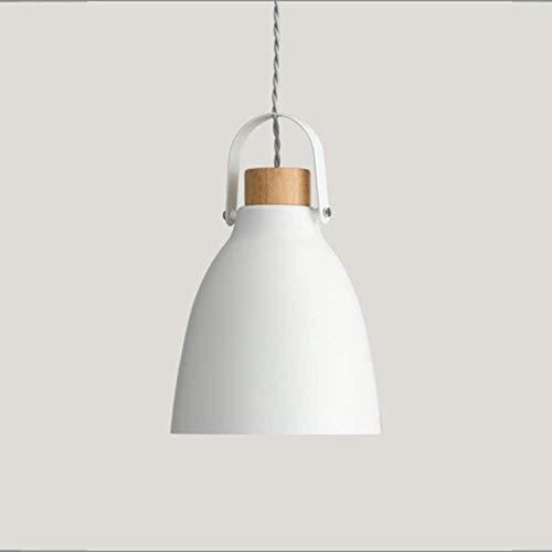 LJWJ Lámpara Candelabros Luces de Techo, Led Lámpara de Techo Blanca Gris Luz Cálida Hierro Candelabro de Madera Comedor Sala de Estar Estudio Dormitorio Simple Minimalismo Moderno,Blanco