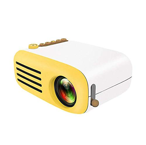 SHUNFENG-EU Mini Proyector Mini Proyector LED 1080P para Smartphones Home Theatre Mobile Phone Full HD Proyector Mini Proyector, TV Compatible, HDMI, AV, VGA, PS4, Smartphone, Amarillo