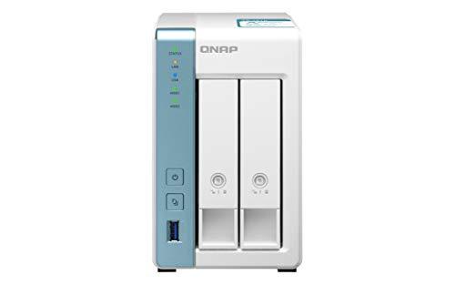 QNAP TS-231K 8TB 2 Bay Desktop NAS Lösung | Installiert mit 2 x 4TB Western Digital Red Festplatte