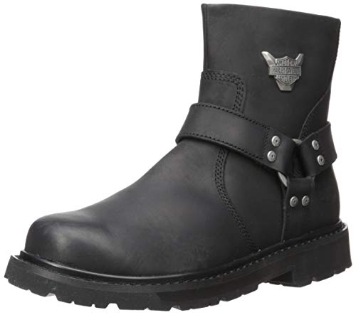 HARLEY-DAVIDSON FOOTWEAR Men's Rambert Motorcycle Boot, Black, 11.0 M US