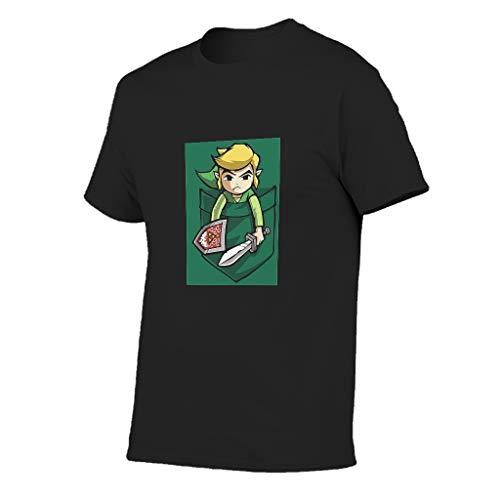 Herren Grün-Zelda Baumwolle T-Shirts - Kämpfen Personalisieren Top Tragen Navy l