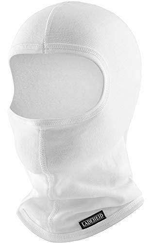 Ladeheid Hombre Pasamontañas Máscara de Esquí Termoactiva SILVERPLUS LA-146 (Blanco, XS/S)