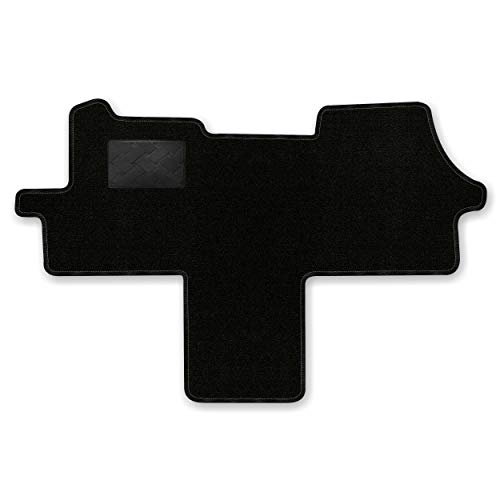 Bär-AfC FI09710WB Ideal Auto Fußmatten Nadelvlies Schwarz, Rand Kettelung Schwarz, Trittschutz Kunststoff, Set 1-teilig, Passgenau für Modell Siehe Details