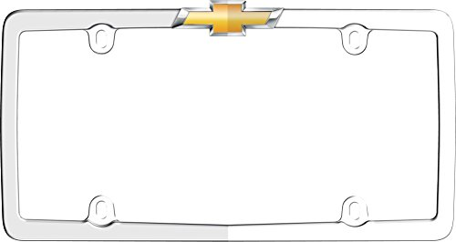Cruiser Accessories 10437 Chrome/Gold 'Chevy' License Plate Frame