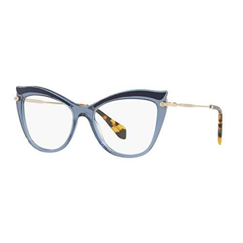 Miu Miu Damen 0MU 06PV Sonnenbrille, Blue Dark Blue, 53