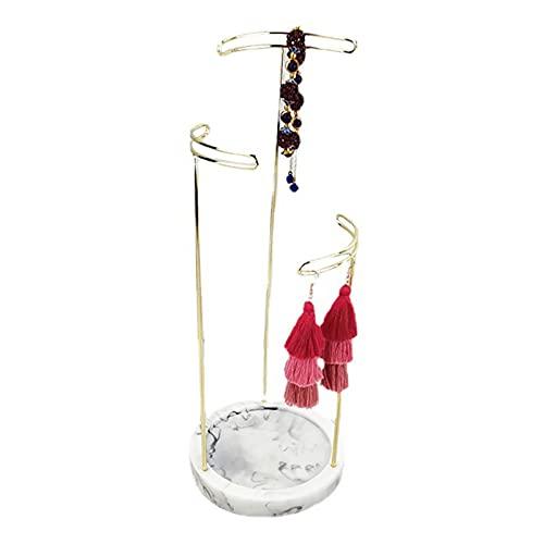 Soporte para Joyas Mármol Oro Joyas Soporte para árbol Organizador Almacenamiento para Collares Pulseras Llaves Anillos Soporte para Joyas Regalo de San Valentín para Novia