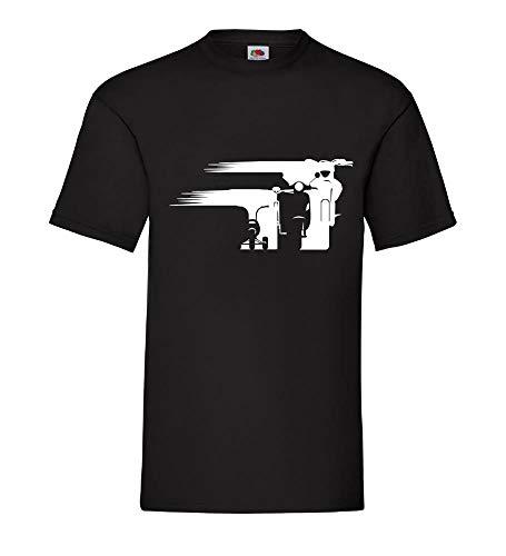 Motorrad Enduro Evolution Schweif Front Männer T-Shirt Schwarz 3XL - shirt84.de