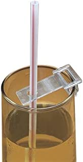 Straw Holders, Clips for Drinkning Cups with a Small Hole to Hold Straws in Place, Dining Aid for Individuals with Limitede Hand Use or Hand Tremors, Bag of 6