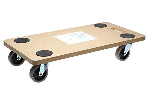 SWV 3009960 (1Stück) Rollbrett Softrolle TPE Transportrolle Möbelroller 200kg