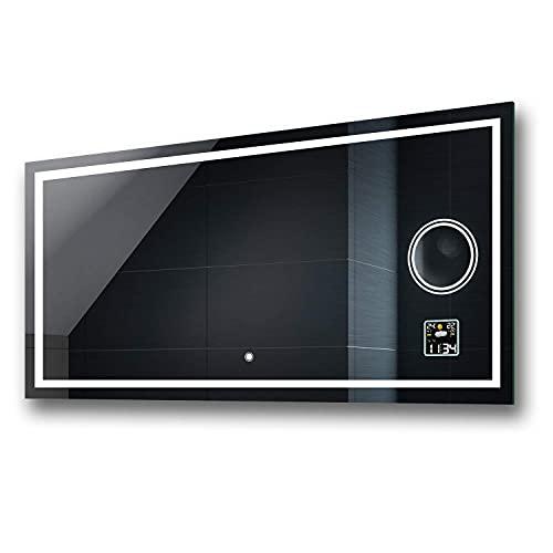 FORAM Espejo de Baño con Iluminación LED - Luz Espejo de Pared con Accesorios - Diferentes tamaños para Baño Dormitorio Maquillaje - L15