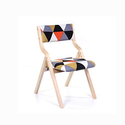 LJZslhei Stuhl Leisure Home Modern minimalistisch Esszimmer Stuhl Schreibtisch Stuhl Rücken Stuhl Klappstuhl (Color : Wood Color)