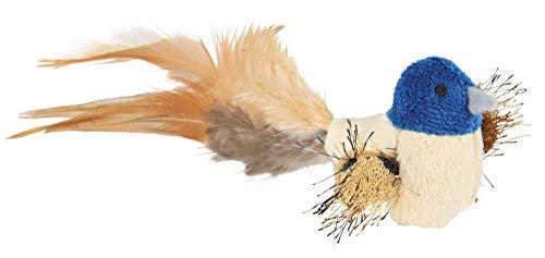 Trixie Vogel mit Federn, Plüsch, 8 cm