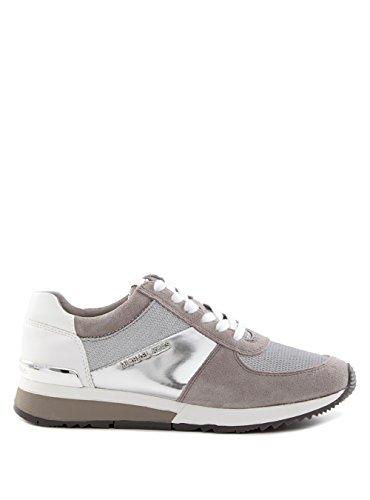 Michael Kors MK Damen Allie Sneaker Leder (5.5, Silber)