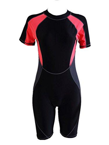 Crazycatz@ Vrouwen Een Stuk korte mouw badpak Zwemkleding Unitard Legsuit Zwemmen Kostuum Rash Gurad