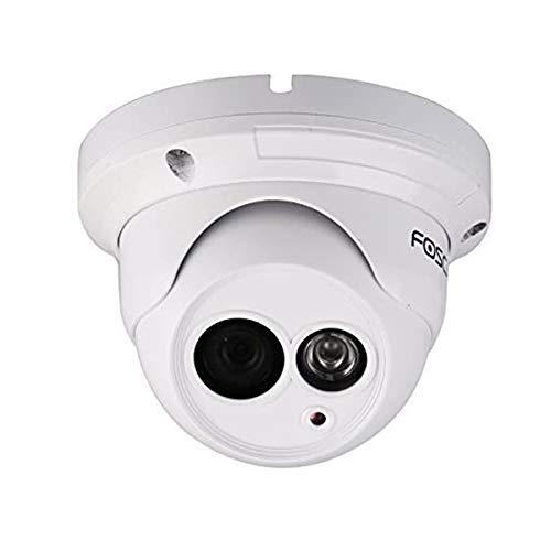 Foscam FI9853EP Telecamera IP da Interno/Esterno, 24 W, 12 V, Bianco, 1 Megapixel