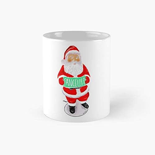 Vintage Santa Blow Mold Christmas is Cancelled Classic Mug Birth-Day Holi-Day Gift Drink Home Kitchen