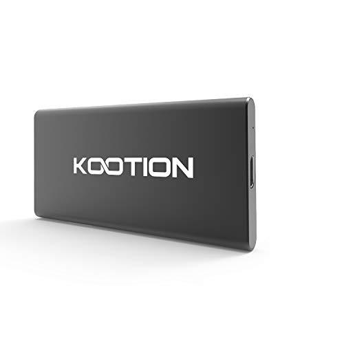 KOOTION 120GB SSD Portatile Hard Disk Solido Esterno Disco Rigido SSD USB 3.0, Alta Velocità di Lettura e Scrittura Fino a 400 MB/s e 300 MB/s, per PC, Computer, Laptop, MacBook, Desktop, Nero