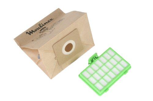 Moulinex MT000101 Juego de 10 bolsas de papel y 1 filtro Hep