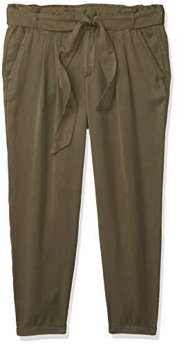 Amazon Brand Daily Ritual - Pantalón de Papel para Mujer, Color Verde