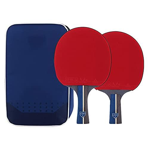 LINGOSHUN Juego de Raquetas de Ping Pong,juego de 2 jugadores,Paleta de Ping Pong de 4 Estrellas para Principiantes,juego en Interiores o Exteriores/Double/C