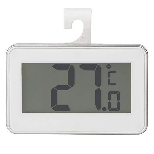 Vbestlife Elektronische Thermometer, Hoge Precisie Waterdichte Elektronische Thermometer voor Koelkast Koelkast Vriezer Temperatuur, Kleur: wit