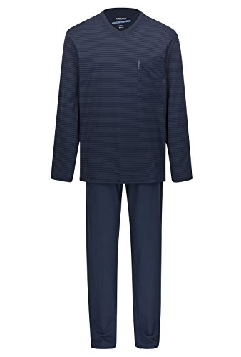 Herren Schlafanzug Extra Light Cotton Dunkelblau 52