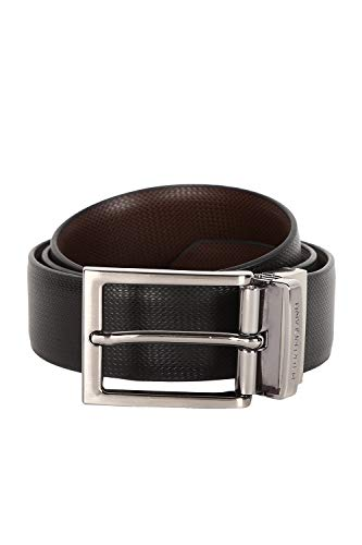Peter England Men's Belt (PL600022_Black with Brown_L)
